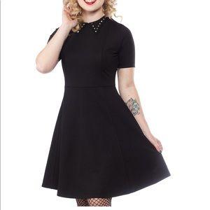 Sourpuss Studded Black Dress